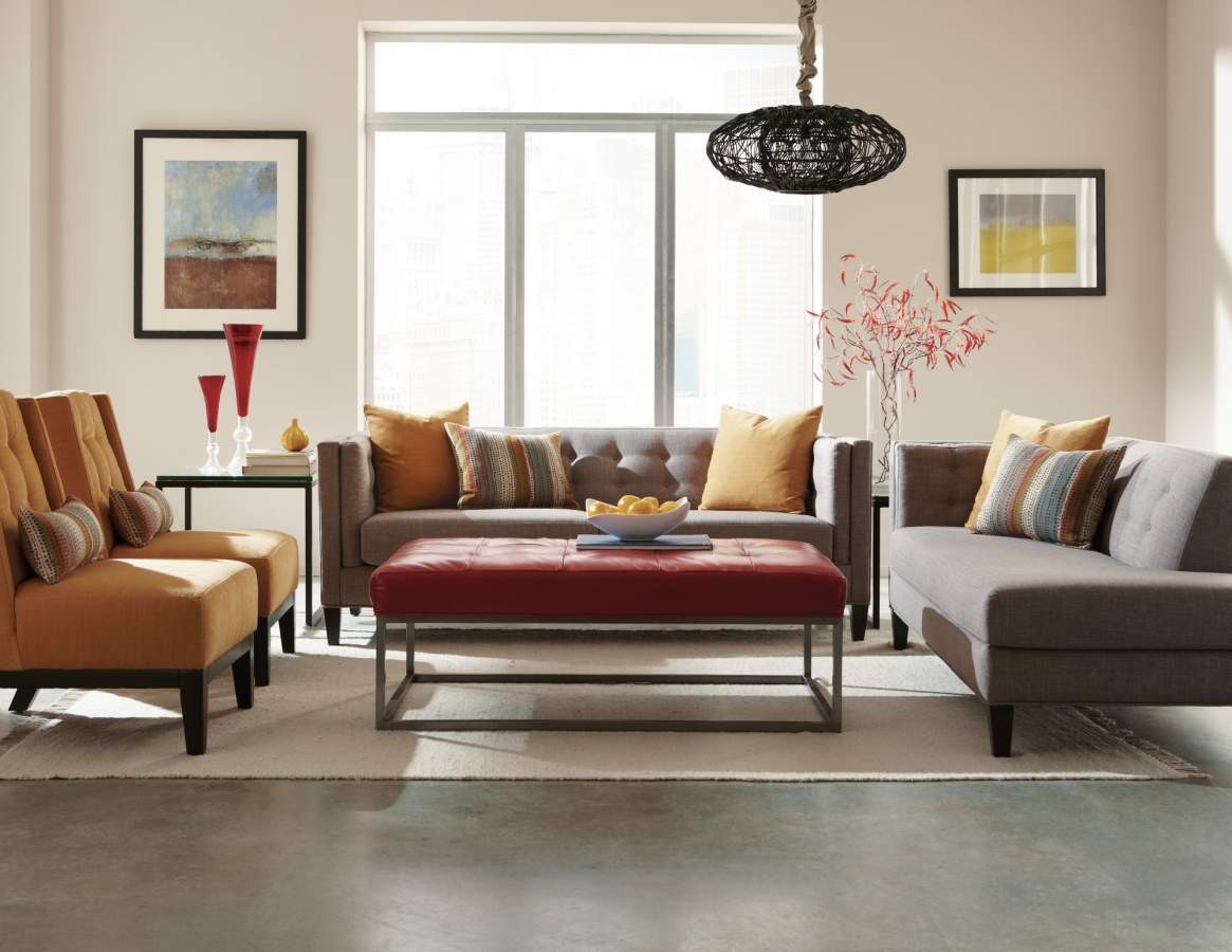 The Strathmore Collection Mid Century Sectional Jonathan Louis