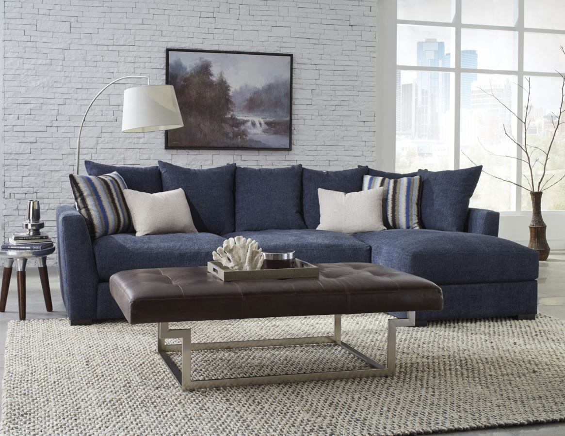 Jonathan Lewis Furniture >> The Harvey Collection Low Profile Sectional Jonathan Louis
