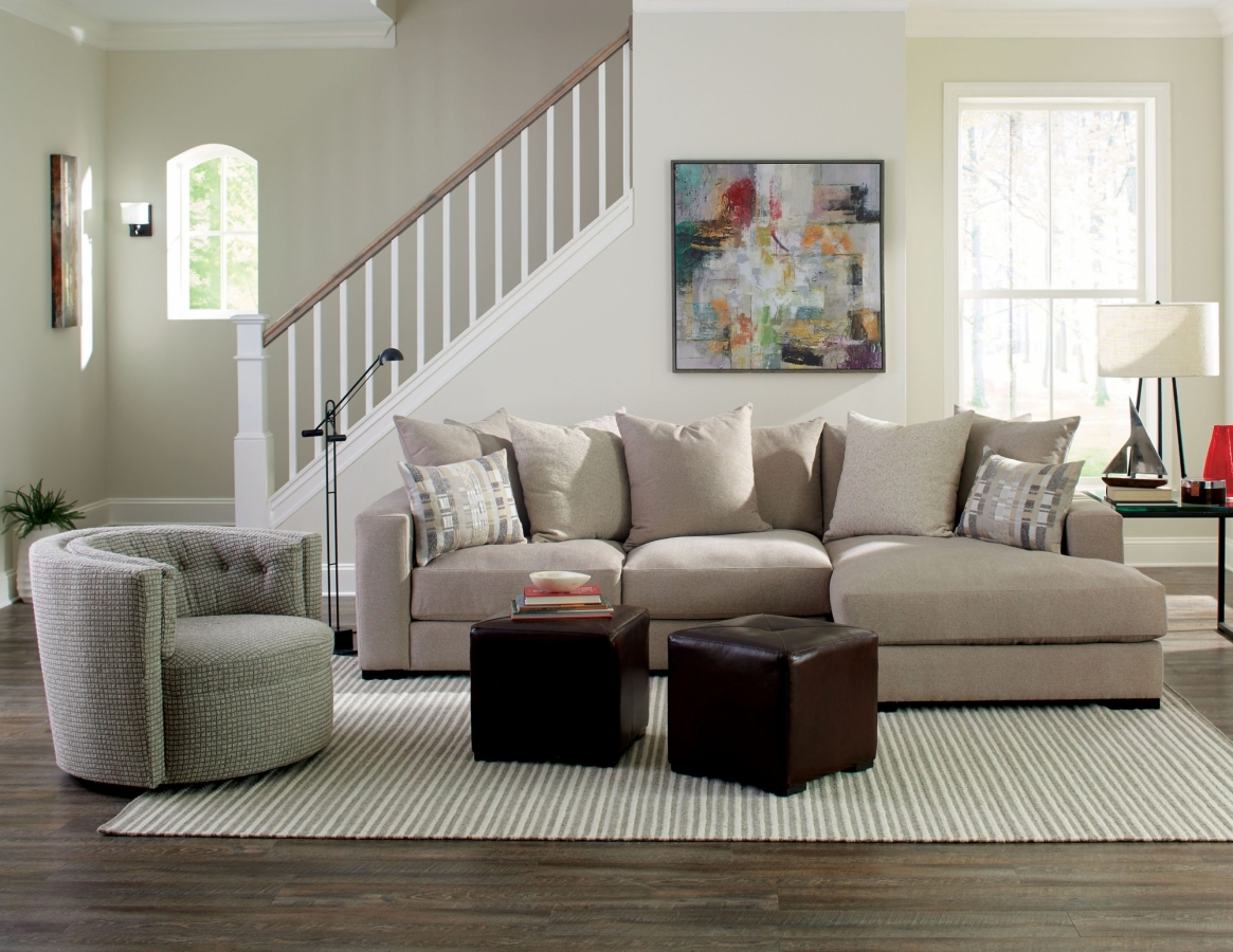 The Lombardy Collection Plush Sectional Jonathan Louis