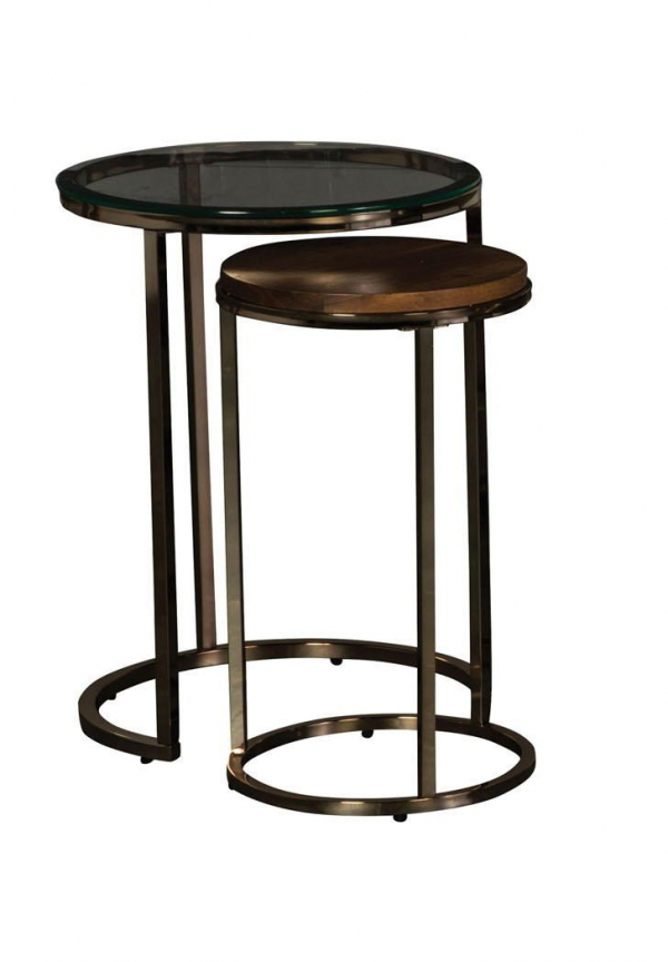 Champagne Brass Nesting End Table Collection
